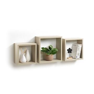 Modul'Home 6RAN789BC - Mensole a cubo, in MDF, 11,8 x 30 x 30 cm, Pannello MDF, Tortora, 3 Taglie 23 cm/26,5 cm/30 cm - 1