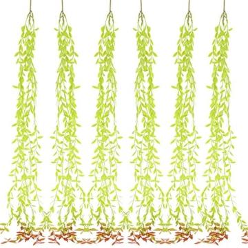 NAHUAA 6pcs Edera Finta per Balconi 100cm Verde Edera Finta Cadente Piante Finte da Interno e Esterno per Appendere a Parete Matrimonio Casa Cucina Decorazioni Sospensione Vaso - 1