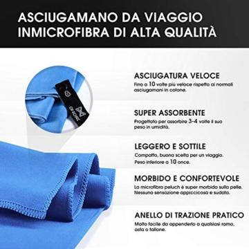 OMORC Asciugamano Microfibra, Grandi Dimensioni 160 * 80 cm, 2 PCS Asciugamano Sportivo di Asciugatura Rapida, Leggero, Assorbente, è Perfetto per Spiaggia, Yoga, Vasca da Bagno, Fitness e Outdoor - 2
