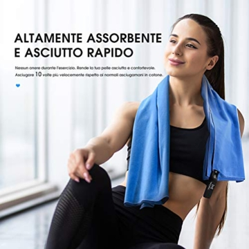 OMORC Asciugamano Microfibra, Grandi Dimensioni 160 * 80 cm, 2 PCS Asciugamano Sportivo di Asciugatura Rapida, Leggero, Assorbente, è Perfetto per Spiaggia, Yoga, Vasca da Bagno, Fitness e Outdoor - 3