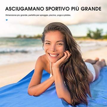 OMORC Asciugamano Microfibra, Grandi Dimensioni 160 * 80 cm, 2 PCS Asciugamano Sportivo di Asciugatura Rapida, Leggero, Assorbente, è Perfetto per Spiaggia, Yoga, Vasca da Bagno, Fitness e Outdoor - 7