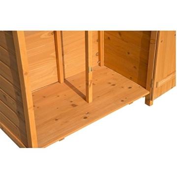 Outsunny Box Casetta Ripostiglio Porta Attrezzi da Giardino in Legno con Doppia Porta 89 x 50 x 190cm - 5