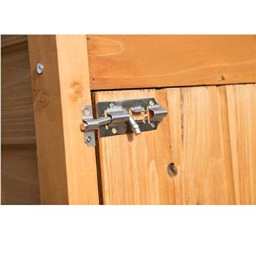 Outsunny Box Casetta Ripostiglio Porta Attrezzi da Giardino in Legno con Doppia Porta 89 x 50 x 190cm - 9