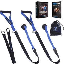 PhysioFit Suspension Trainer - attrezzi palestra casa - cavi palestra - palestra casa - attrezzi da palestra - attrezzi fitness casa - kit palestra in casa - Include Video con oltre 30 Esercizi - 1