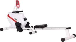 SportPlus Vogatore per Casa, Sistema Frenante Magnetico Silenzioso Esente da Manutenzione, Massa Volano di ca 8 kg, Computer di Allenamento con Ricevitore di Impulsi a 5 kHz, Peso Max Utente 150 kg, Sicurezza Testata - 1