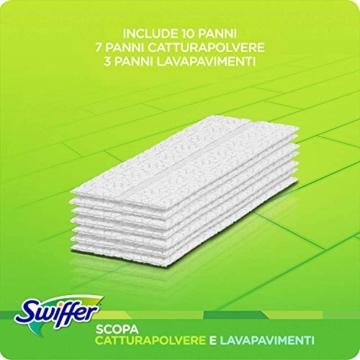Swiffer Starter Kit Scopa con 1 Manico, 8 Panni Asciutti e 3 Panni Umidi, per Catturare e Intrappolare la Polvere - 7
