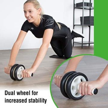 Ultrasport Attrezzo per addominali AB Roller / Trainer AB incl. supporto per le ginocchia, allenamento addominali per uomini e donne, anche per persone anziane, trainer muscolare pieghevole - 3