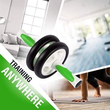 Ultrasport Attrezzo per addominali AB Roller / Trainer AB incl. supporto per le ginocchia, allenamento addominali per uomini e donne, anche per persone anziane, trainer muscolare pieghevole - 6