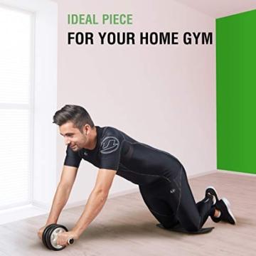 Ultrasport Attrezzo per addominali AB Roller / Trainer AB incl. supporto per le ginocchia, allenamento addominali per uomini e donne, anche per persone anziane, trainer muscolare pieghevole - 7