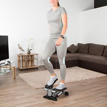 Ultrasport Up-Down-Stepper, per fitness e aerobica, ministepper con computer di allenamento e gradini spaziosi, home trainer per addome, gambe, glutei, Fitness Stepper per casa e ufficio - 4