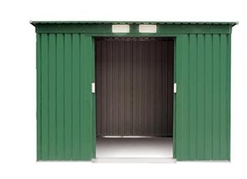 VERDELOOK Maisonette, Casetta in Metallo Box da Giardino a Una Falda, 194x121 Altezza 181 cm - 3