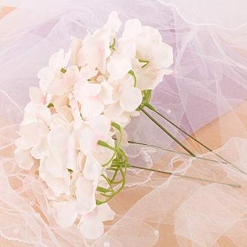 VINFUTUR 10 Pz Fiori Artificiali Ortensia Artificiali Ortensia Finte con Gambo per Bouquet da Sposa DIY Matrimoni Decorazioni di Festa Casa Centrotavola - 5