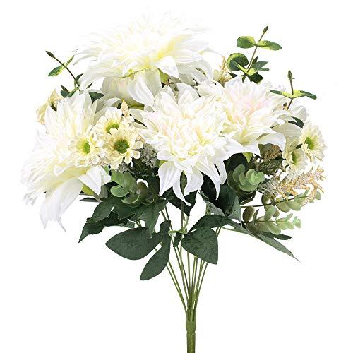 XHXSTORE Bouquet Fiori Artificiali in Seta Bouquet Fiori Finti da Interno Esterno Mazzi Fiori Artificiali per Decorazioni di Casa Ufficio Matrimoni - 1
