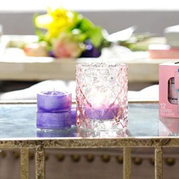 Yankee candle Tea Light Candele Profumate 12 Pezzi Baby Powder, Cera, Bianco, 2.1x6x5.8 cm - 2