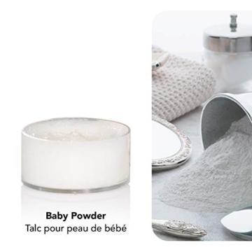 Yankee candle Tea Light Candele Profumate 12 Pezzi Baby Powder, Cera, Bianco, 2.1x6x5.8 cm - 3