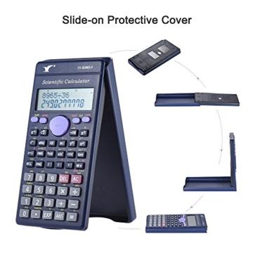 Aibecy Calcolatrice Scientifica - 240 Funzioni e 2 Display LCD Linea per Ufficio / Medio Studenti Delle Scuole Superiori ,SAT/AP Calculate Counter - 2