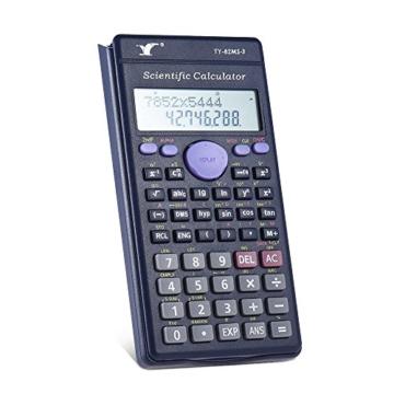 Aibecy Calcolatrice Scientifica - 240 Funzioni e 2 Display LCD Linea per Ufficio / Medio Studenti Delle Scuole Superiori ,SAT/AP Calculate Counter - 4