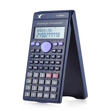 Aibecy Calcolatrice Scientifica - 240 Funzioni e 2 Display LCD Linea per Ufficio / Medio Studenti Delle Scuole Superiori ,SAT/AP Calculate Counter - 1