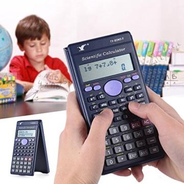 Aibecy Calcolatrice Scientifica - 240 Funzioni e 2 Display LCD Linea per Ufficio / Medio Studenti Delle Scuole Superiori ,SAT/AP Calculate Counter - 5