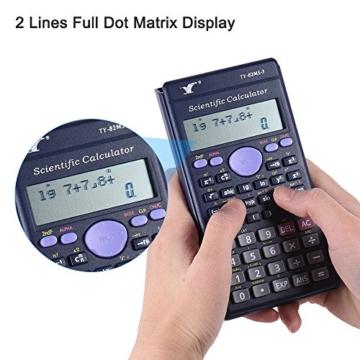 Aibecy Calcolatrice Scientifica - 240 Funzioni e 2 Display LCD Linea per Ufficio / Medio Studenti Delle Scuole Superiori ,SAT/AP Calculate Counter - 6