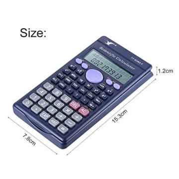 Aibecy Calcolatrice Scientifica - 240 Funzioni e 2 Display LCD Linea per Ufficio / Medio Studenti Delle Scuole Superiori ,SAT/AP Calculate Counter - 7