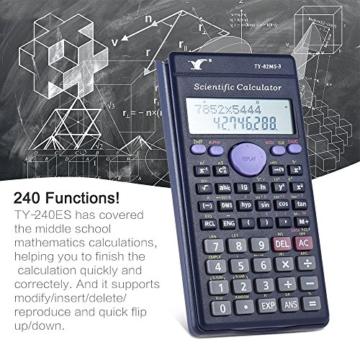 Aibecy Calcolatrice Scientifica - 240 Funzioni e 2 Display LCD Linea per Ufficio / Medio Studenti Delle Scuole Superiori ,SAT/AP Calculate Counter - 8