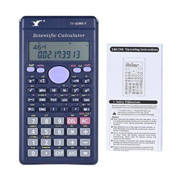 Aibecy Calcolatrice Scientifica - 240 Funzioni e 2 Display LCD Linea per Ufficio / Medio Studenti Delle Scuole Superiori ,SAT/AP Calculate Counter - 9