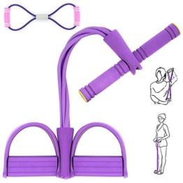 AJOXEL Estensore Fitness Polivalente Sit Up Pull Rope Pedale Addominali Corda Elastica Leg Exerciser Attrezzatura Palestra Resistenza Allenamento Esercizio Muscoli Addome Stomaco Braccia Gambe - 1
