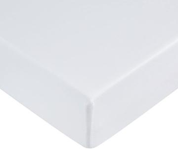 AmazonBasics - Lenzuolo con angoli in microfibra, 100 x 200 x 30 cm, Bianco brillante - 1