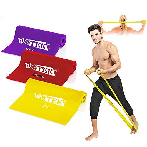 Bande Elastiche Fitness-Elastici Fitness con 3 Livelli di Resistenza: 1.5m/1.8m/2m Banda Elastica per Uomo e Donna, perfette per Pilates, Yoga, Riabilitazione, Stretching, Allenamento - 1