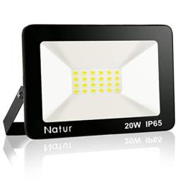 Bapro 20W Faretto LED da Esterno, Fari di sicurezza,Lampada Luce Potente Bianco Caldo (3000K) Faro Impermeabile IP65 per Giardino Cortile [Classe di efficienza energetica A++ ] - 1