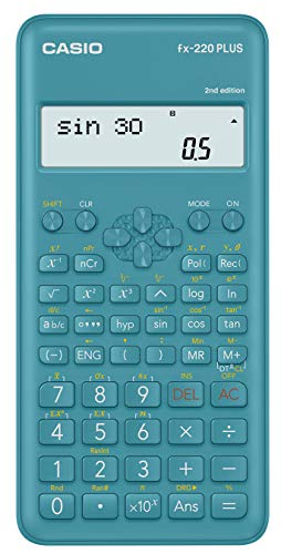 Casio FX-220PLUS 2 Calcolatrice Scientifica, Azzurro - 1