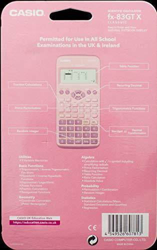 Casio FX-83GTX - Calcolatrice scientifica, colore: Rosa - 2