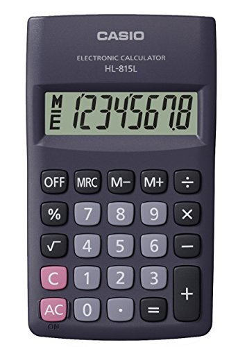 CASIO HL-815L calcolatrice tascabile - Display a 8 cifre, con radice quadrata - 1