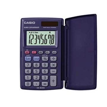 CASIO HS-8VER calcolatrice tascabile - Display a 8 cifre ed euroconvertitore - 1