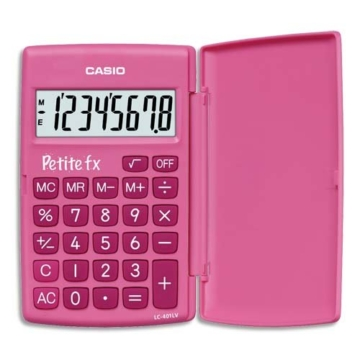 CASIO LC-401LV-PK calcolatrice tascabile - Display a 8 cifre, di colore rosa - 1