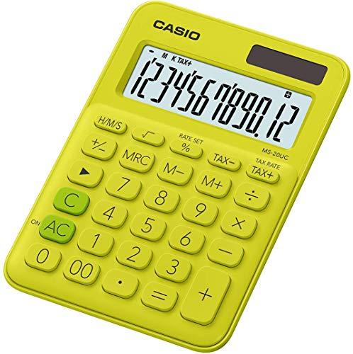 Casio MS-20UC-YG Calcolatrice da Tavolo, Giallo - 1