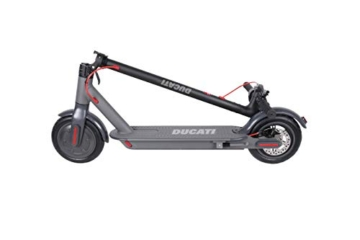 Ducati PRO 1 Plus Monopattino Elettrico Pieghevole, Monopatino Unisex-Youth, Nero, One Size - 3