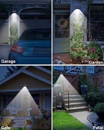 【6 Pezzi】Luce Solare Led Esterno,Hepside Faretti Solari a 100 LED da Esterno con Sensore di Movimento 180°,IP65 Impermeabile,3 Modalità Lampada Solare da Esterno per Giardino,Parete - 7
