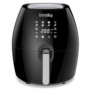 Innsky 5.5L Friggitrice ad aria calda 8 Funzioni Preimpostate + Funzione di Pausa/Riavvio ricettario plurilingue, Friggitrici senza olio, fornetto 1700W, Spegnimento Automatico senza BPA, PFOA - 7