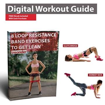 Insonder Elastiche Fitness Set di 5 Banda Elastica Fasce Resistenza per Fitness Yoga Crossfit - 5