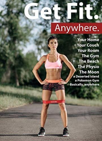 Insonder Elastiche Fitness Set di 5 Banda Elastica Fasce Resistenza per Fitness Yoga Crossfit - 6