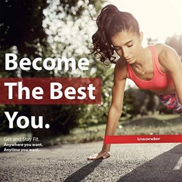 Insonder Elastiche Fitness Set di 5 Banda Elastica Fasce Resistenza per Fitness Yoga Crossfit - 7