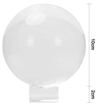 IZSUZEE K9 Sfera di Cristallo 100mm, Trasparente Lensball Palla di Vetro con Supporto, Fotografia Accessori Soprammobili Natalizi Decorazioni per La Casa, Lens Ball per Meditazione e Guarigione - 6