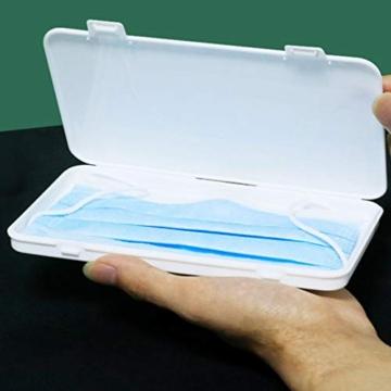 Jelord-4 PCS Scatole in Plastica per m-a-s-c-h-e-r-i-n-e Monouso Portatile Porta Antipolvere Anti -inquinamento Contenitore Custodia per m-a-s-c-h-e-r-i-n-a per per Borsa Bag (A) - 4