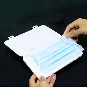 Jelord-4 PCS Scatole in Plastica per m-a-s-c-h-e-r-i-n-e Monouso Portatile Porta Antipolvere Anti -inquinamento Contenitore Custodia per m-a-s-c-h-e-r-i-n-a per per Borsa Bag (A) - 5