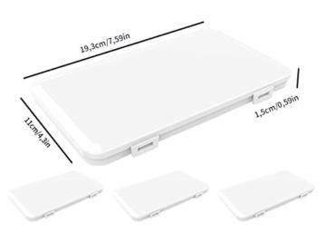 Jelord-4 PCS Scatole in Plastica per m-a-s-c-h-e-r-i-n-e Monouso Portatile Porta Antipolvere Anti -inquinamento Contenitore Custodia per m-a-s-c-h-e-r-i-n-a per per Borsa Bag (A) - 7