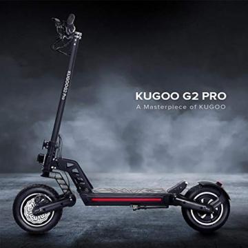 Kugoo Monopattino Elettrico Adulti G2 PRO, E-Scooter Pieghevole Motore 500W,velocità Massima 50km/h,10 Pollici Pneumatici Fuoristrada, Super LCD Display,Freno Doppio, Fari a LED per Sicurezza. - 6