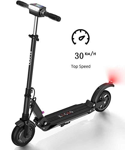 Kugoo S1, Monopattino elettrico pieghevole, 350 W, con schermo LCD, 3 modalità di velocità, max 30 km/h, Nero - 1