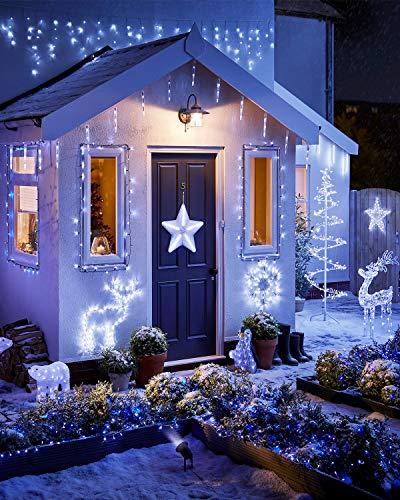 Litogo Luci LED Batteria, Catena Luminosa 5m 50 LED Fairy Light Filo Rame Ghirlanda Luminosa Lucine LED Decorative Waterproof per Camere da Letto Giardino Casa Feste Natale Matrimonio (Bianco freddo) - 1